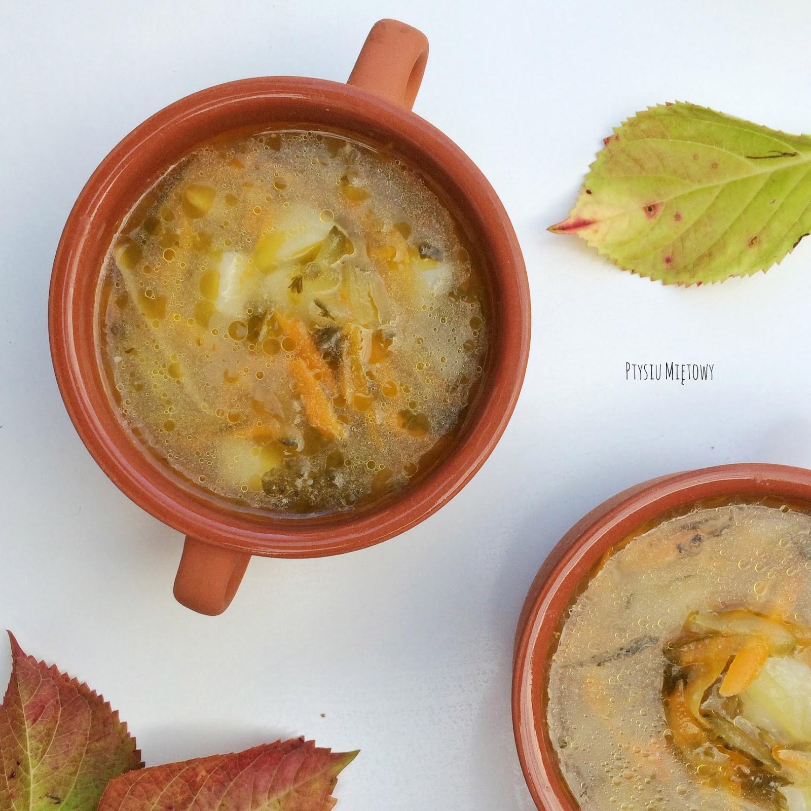 zupa, ptysiu mietowy