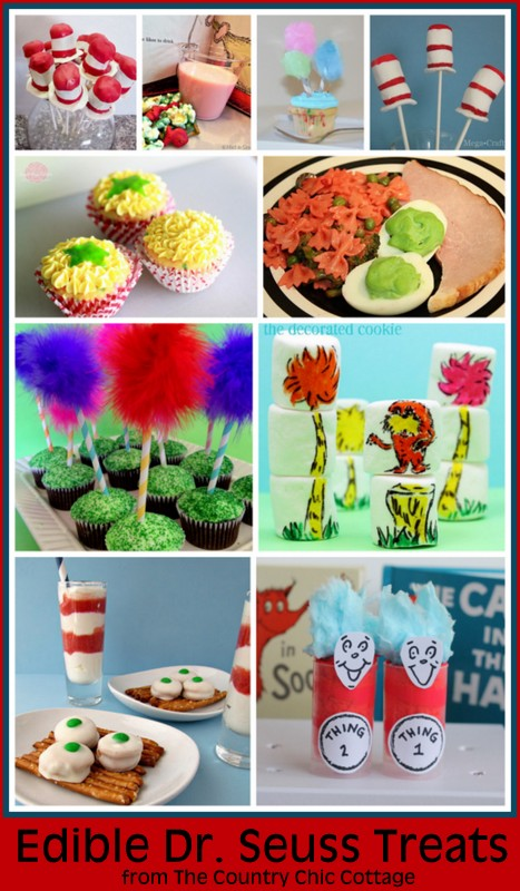 Edible Dr. Seuss Crafts Round Up
