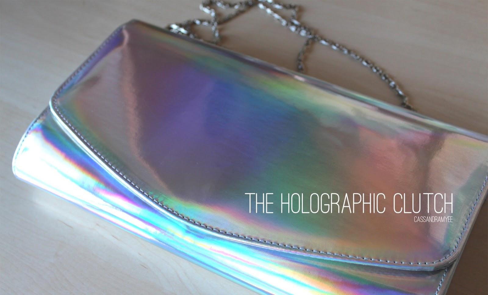 HOLOGRAPHIC CLUTCH - CassandraMyee