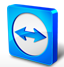 A logo of the TeamViewer application