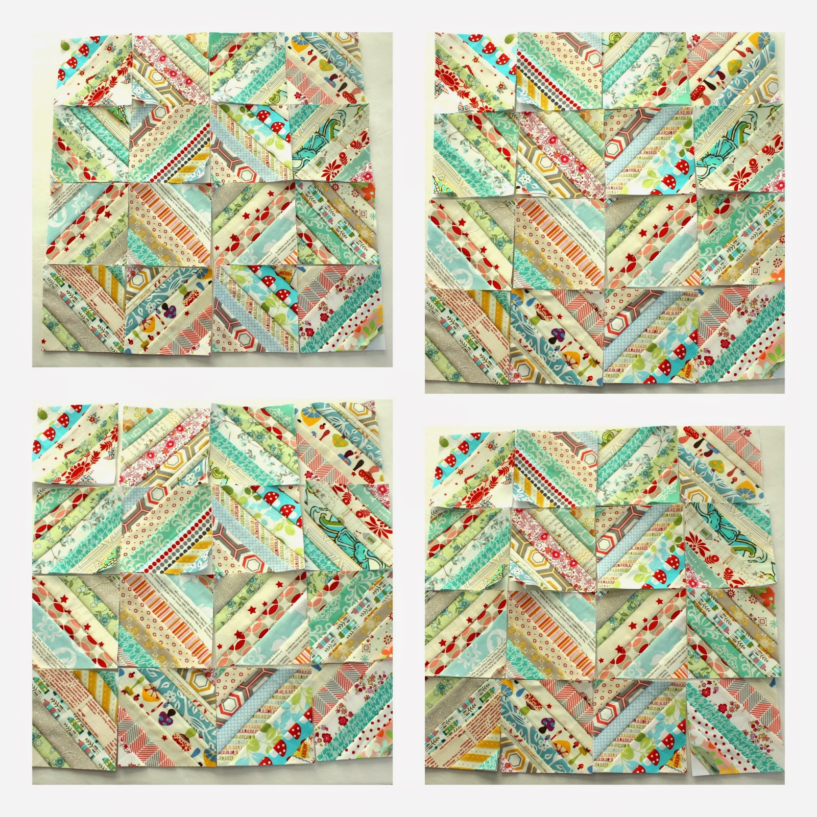Quilt Patterns With Two Fabrics : Easy Scrap fabric quilt block - Diary of a Quilter - a quilt blog