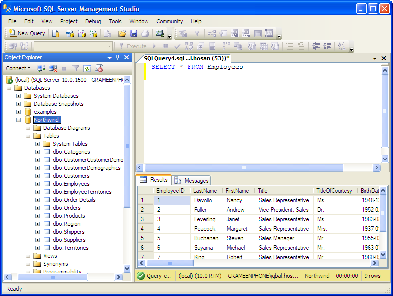 sql how to run multiple stored procedures from management studio