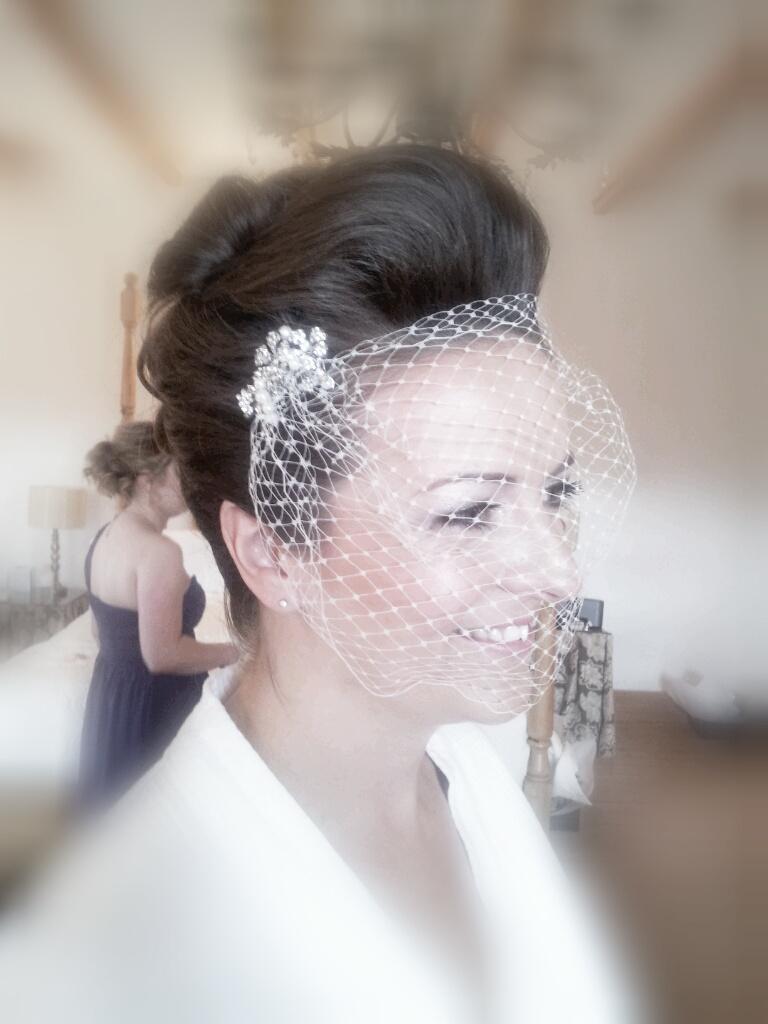 Wedding Hair, Birdcage Veil, Bridal, Bride