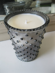 """Fern"" Hobnail Glass Candle"