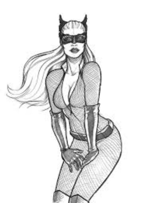 Free Coloring Pages Free Printable Cat Woman Coloring Pages