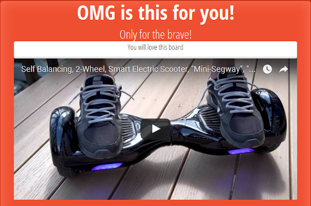 You will learn hoverboard riding