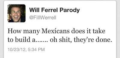 will ferrel parody tweet