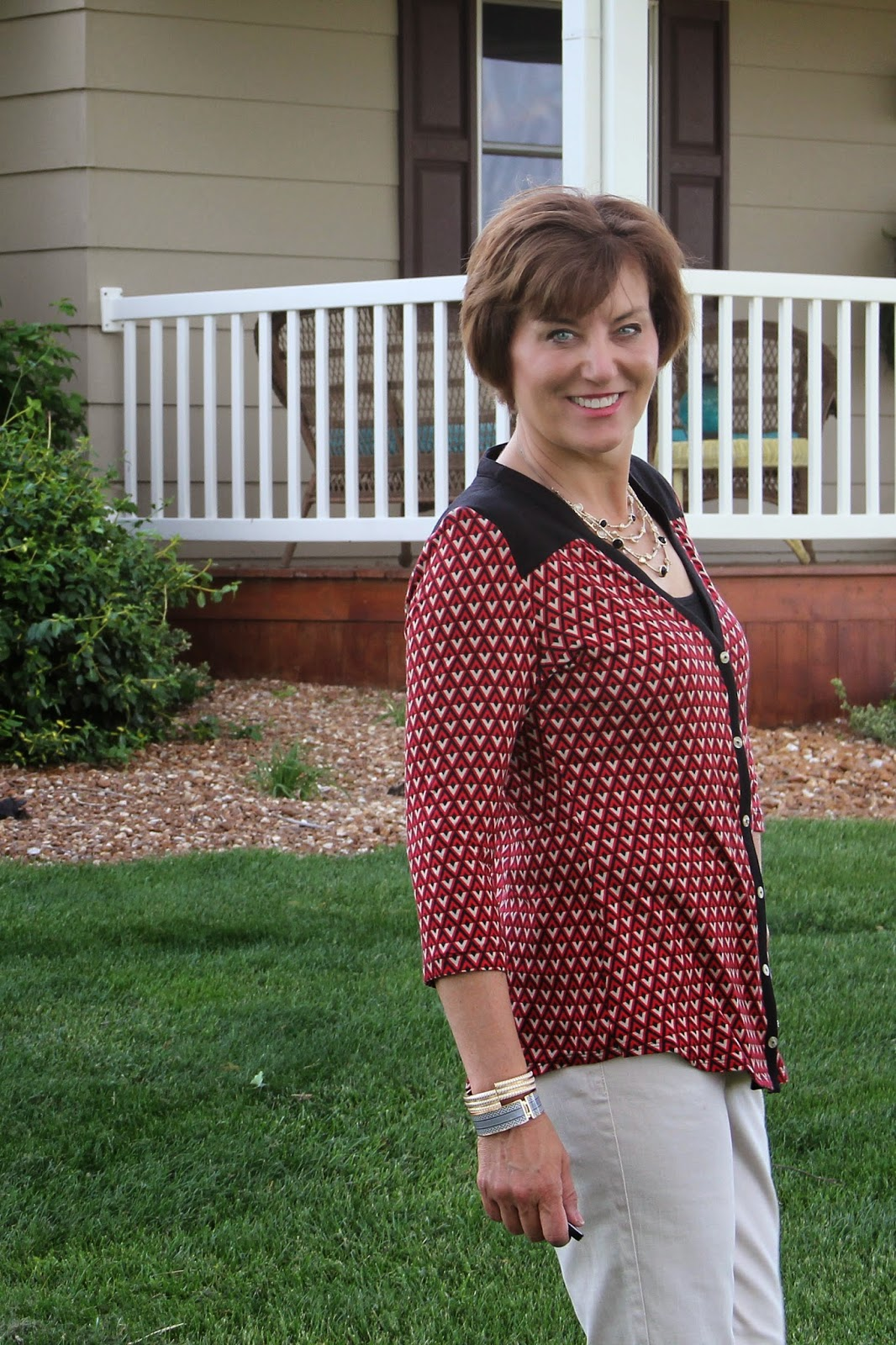 Indiesew Camas Blouse by Thread Theory using a rayon knit from Style Maker Fabrics
