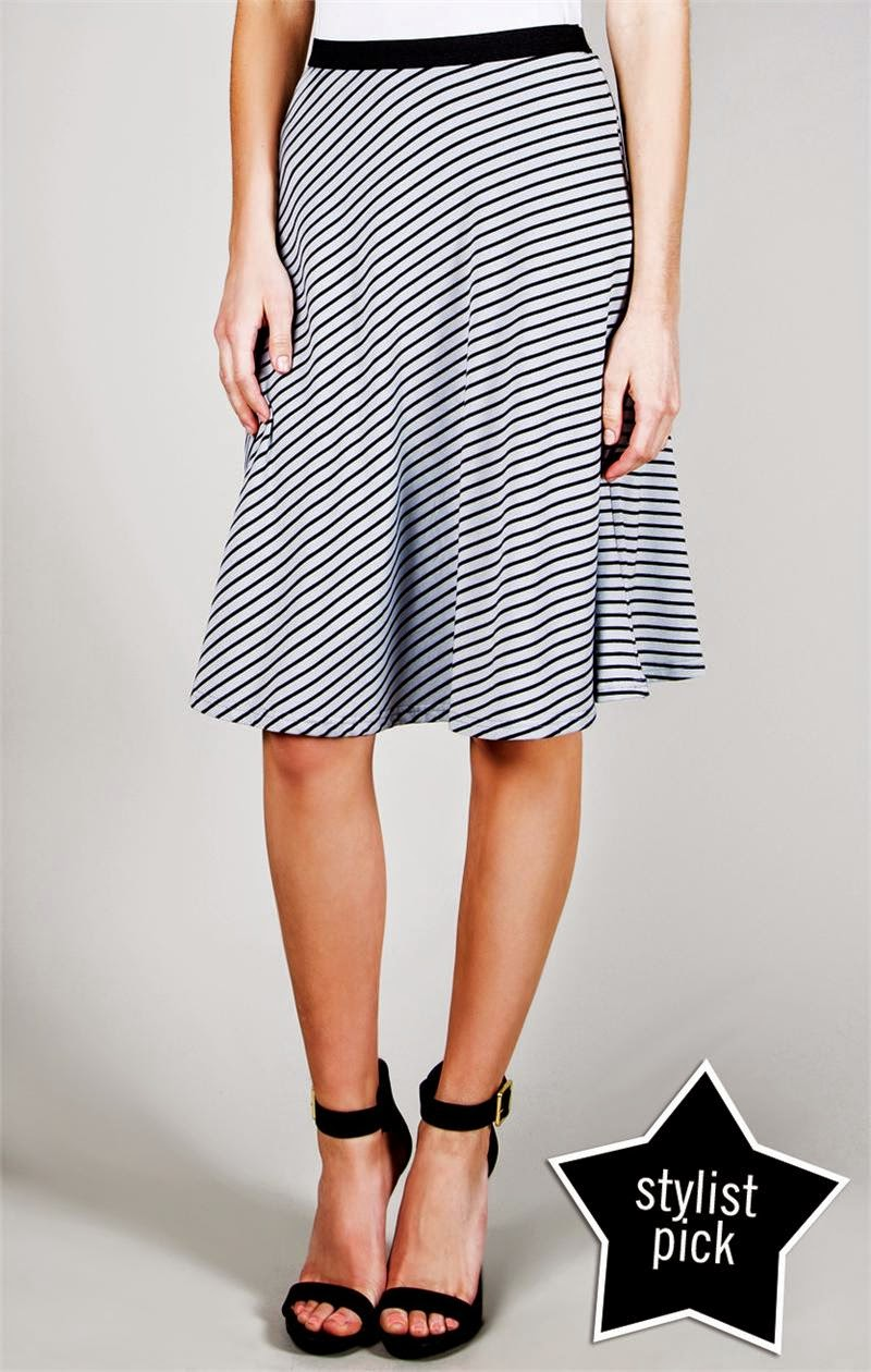 Dresses in black and white stripes for summer 2014