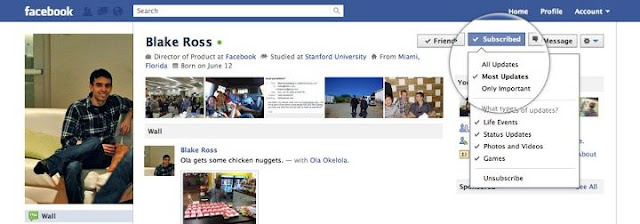 Subscribe Facebook Feeds