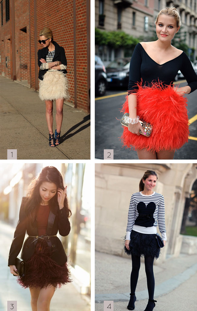 feather skirts / pretty preened