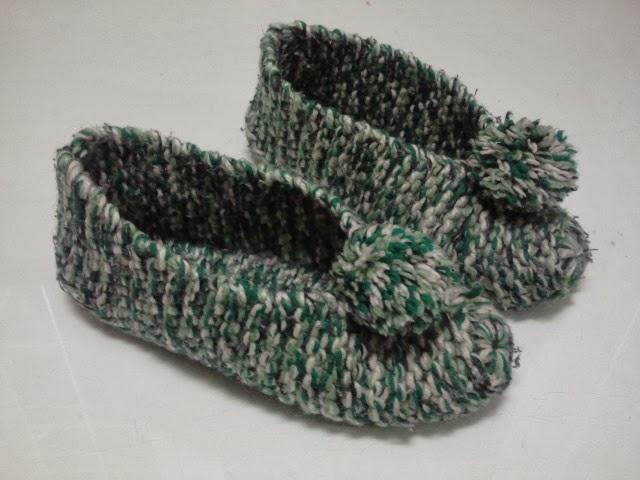 Idea con tus manos zapatillas - Como hacer calcetines de lana a dos agujas ...