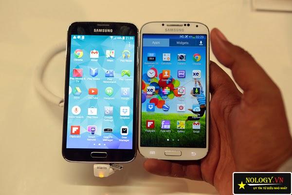 Samsung Galaxy S5 và Samsung Galaxy S4.