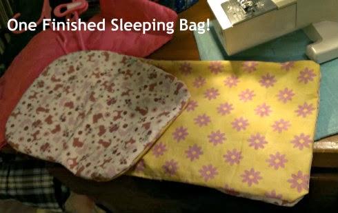 bthm doll sleeping bag finished bag