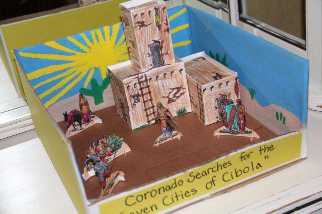 how to make a native american diorama