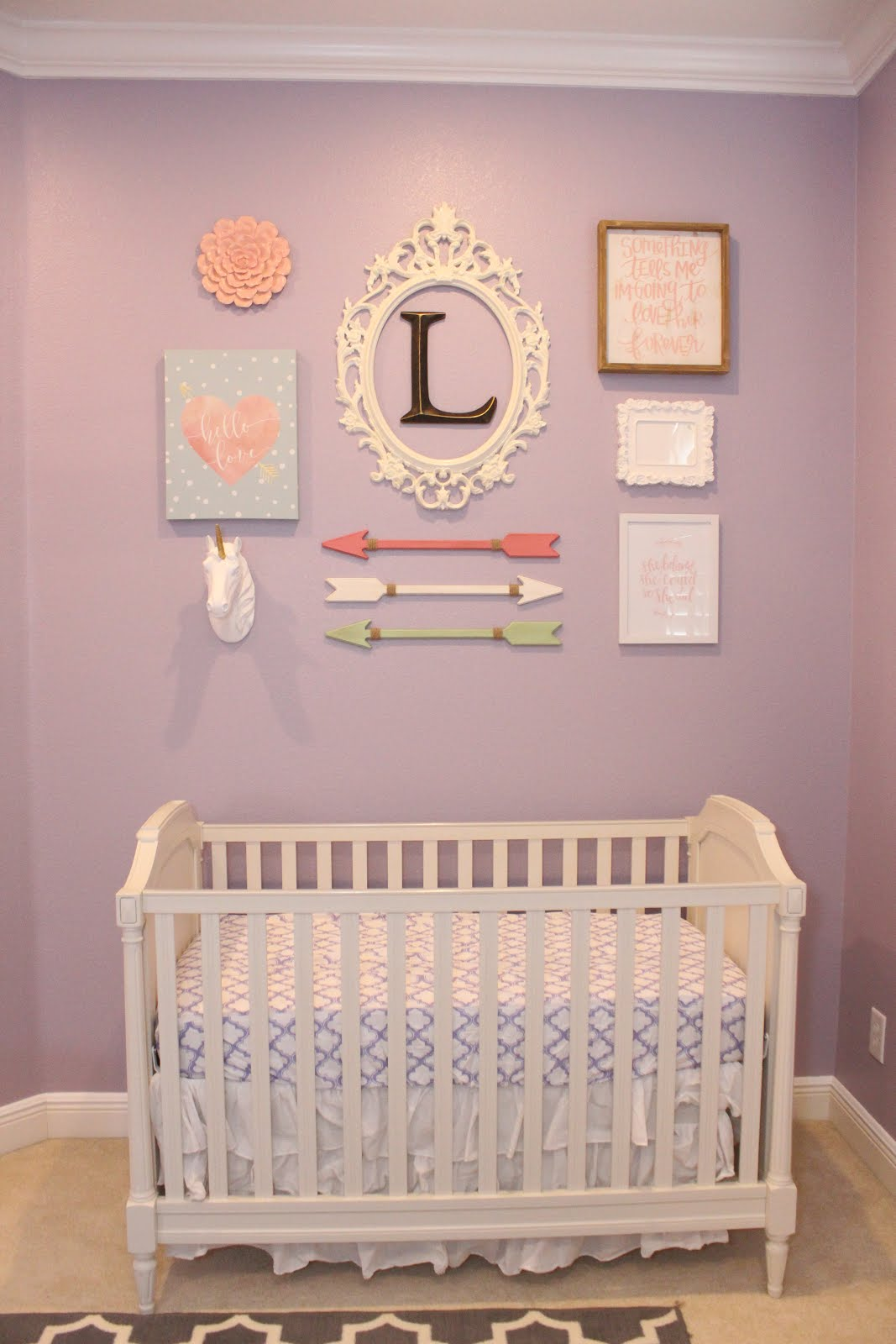 Still working on her middle name  and her nursery  but things are coming  along nicely. Organized Chaos  February 2017