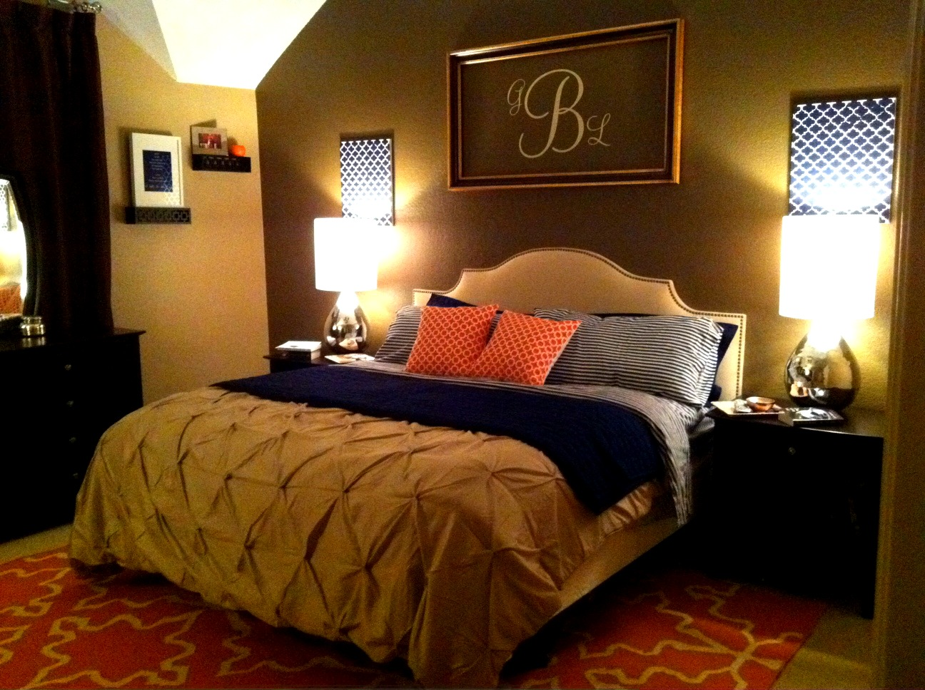 Playing house master bedroom re do the for now finale Master bedroom wall art ideas