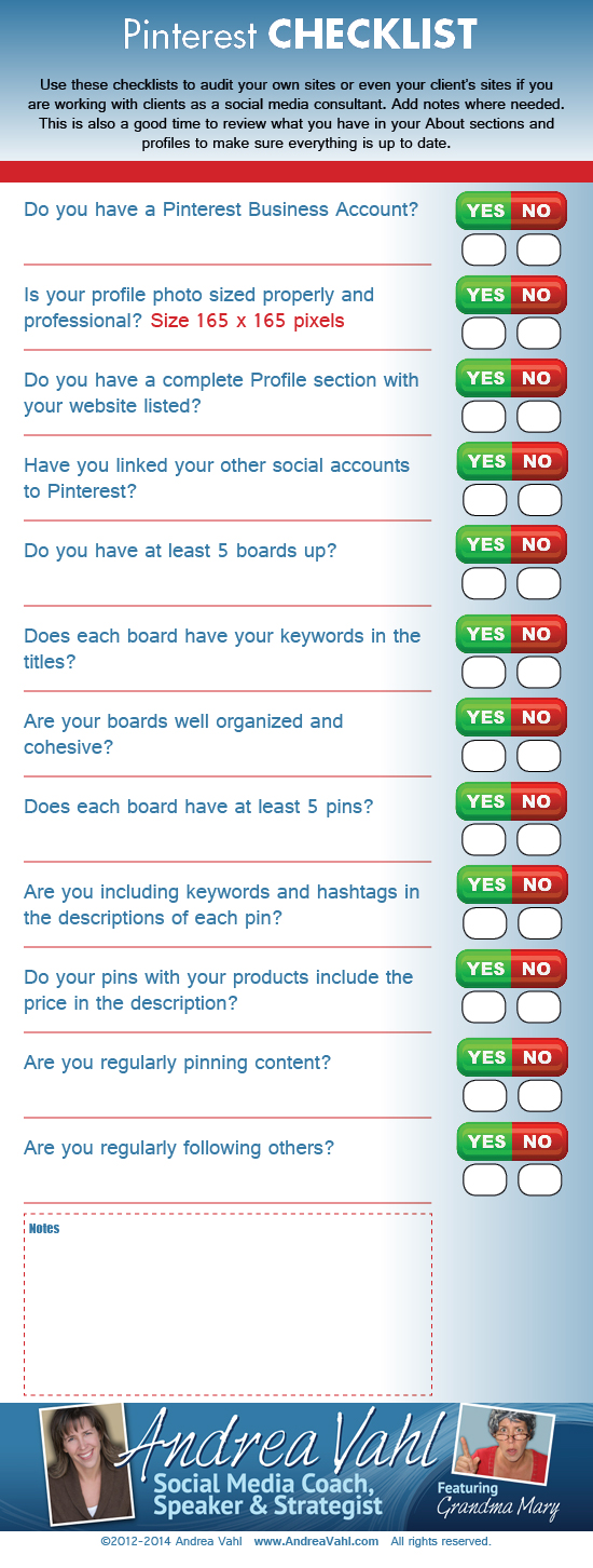 Pinterest Checklist — #Infographic #socialmediamarketing