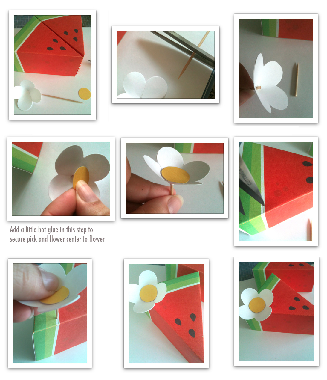 Real parties watermelon party by little things creations for How to make paper things easy step by step