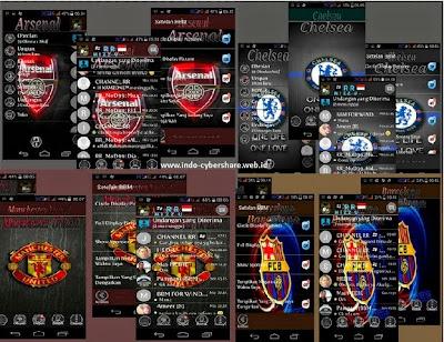 BBM Mod Tema Team Sepak Bola Terbaru V2.8.0.21 Apk
