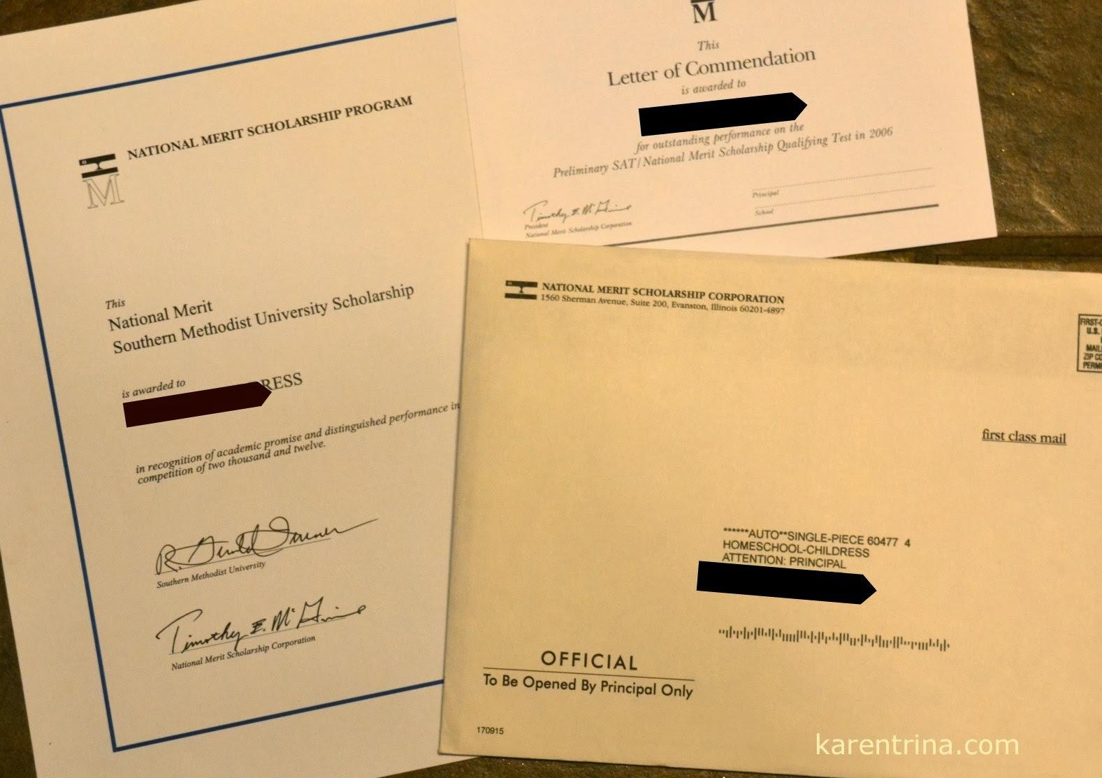 National Merit Scholarship questions