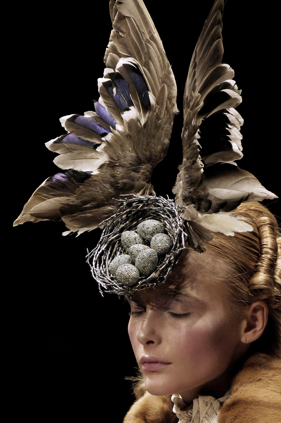 "Details of Alexander McQueen ""The Widows of Culloden"" Fall/Winter 2006 collection / Savage Beauty Alexander McQueen / Victoria&Albert Museum / via fashioned by love British fashion blog"