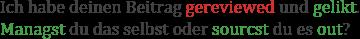 Beispiele für das Konjugieren englischer Wörter im Deutschen
