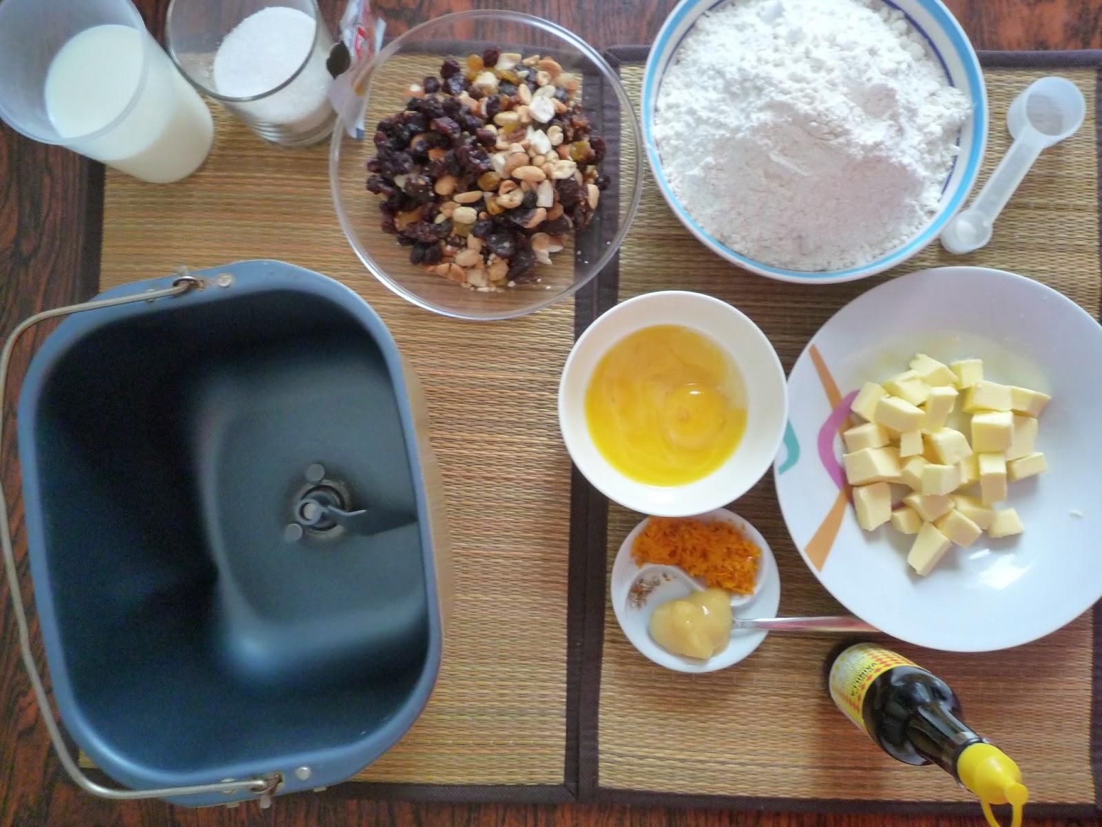 Ingredientes para pan Dulce