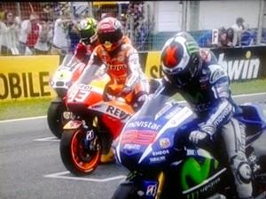 Pole Moto GP.
