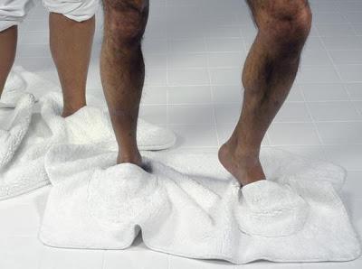 Alfombrilla zapatillas para el baño
