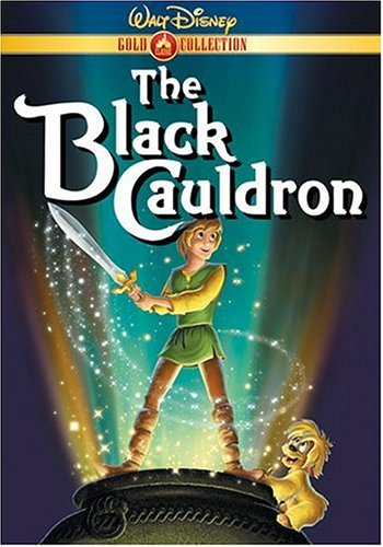 DVD cover Black Cauldron 1985 animatedfilmreviews.blogspot.com