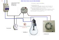 minutero para caja de empalmes para baño encendido luz y extractor