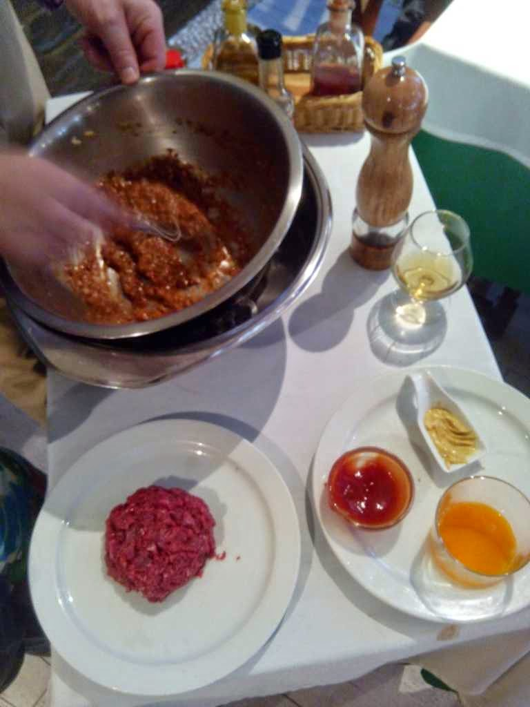 preparacion steak tartar