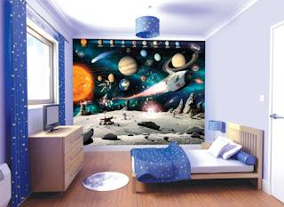 habitación temática universo