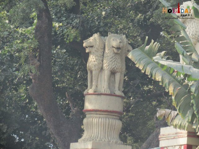Replica of National Emblem in front of Mulagandha Temple
