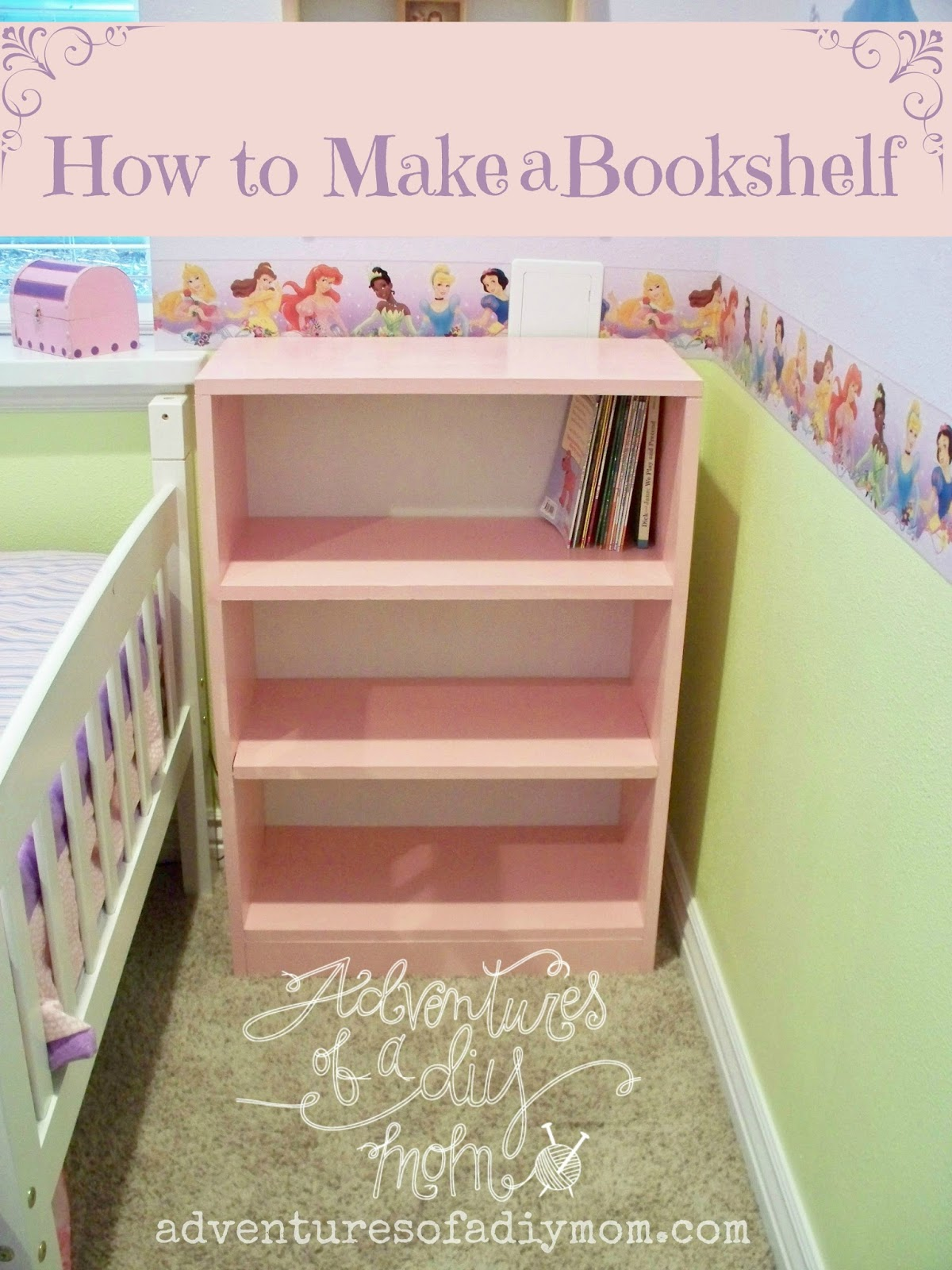 Adventures Of A DIY Mom: How To Build A Bookshelf. Full resolution‎  portrait, nominally Width 1200 Height 1600 pixels, portrait with #794C36.