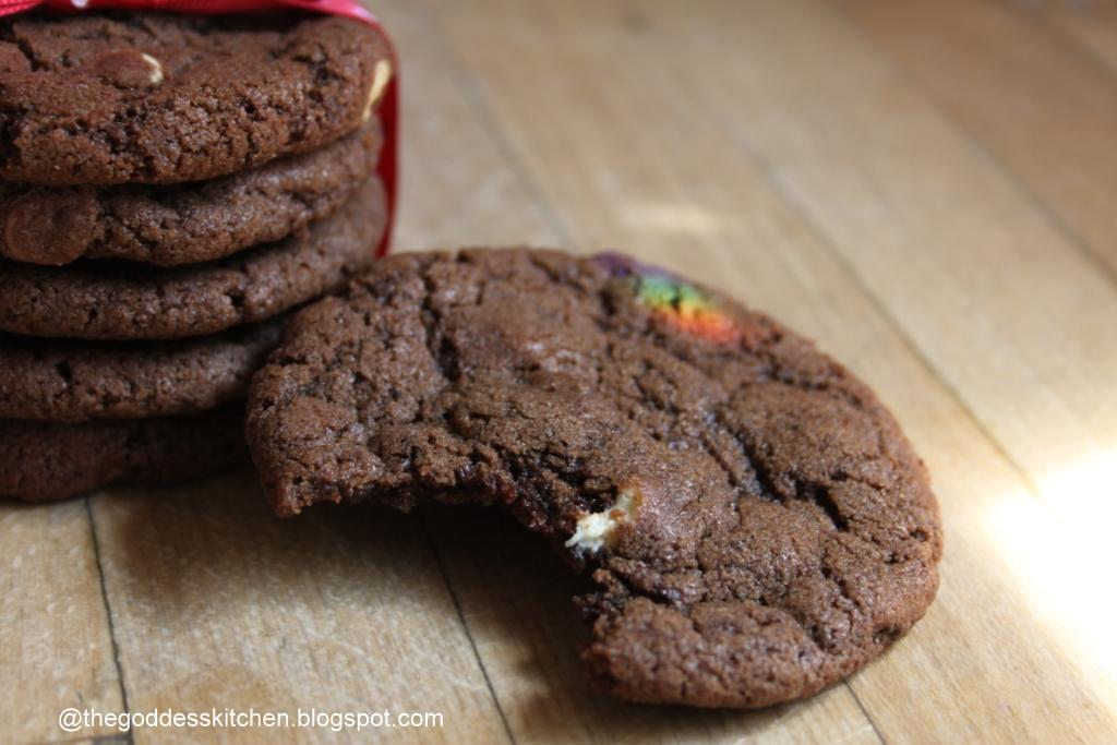 The Goddess's Kitchen ♥: Triple Chocolate Cookies