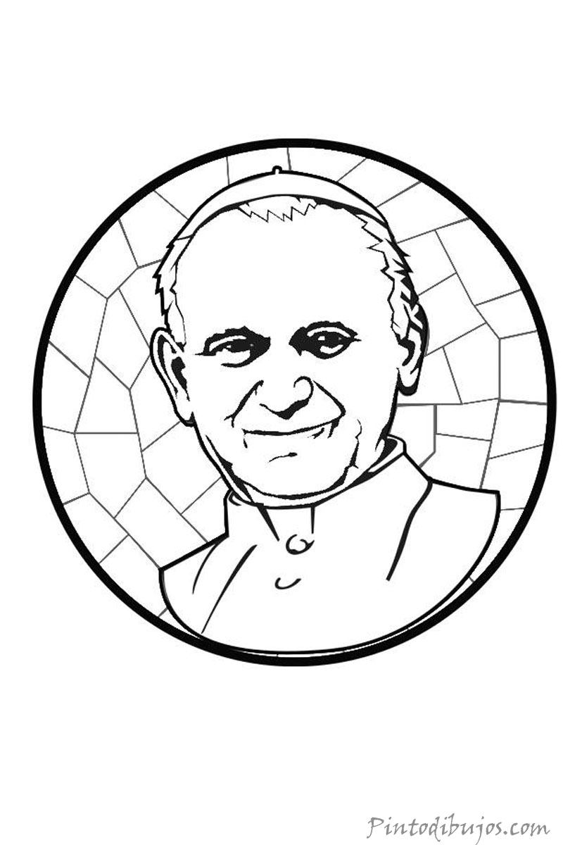 Juan Pablo II para colorear
