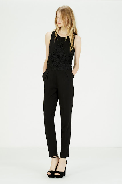 warehouse black lace jumpsuit, black lace jumpsuit,