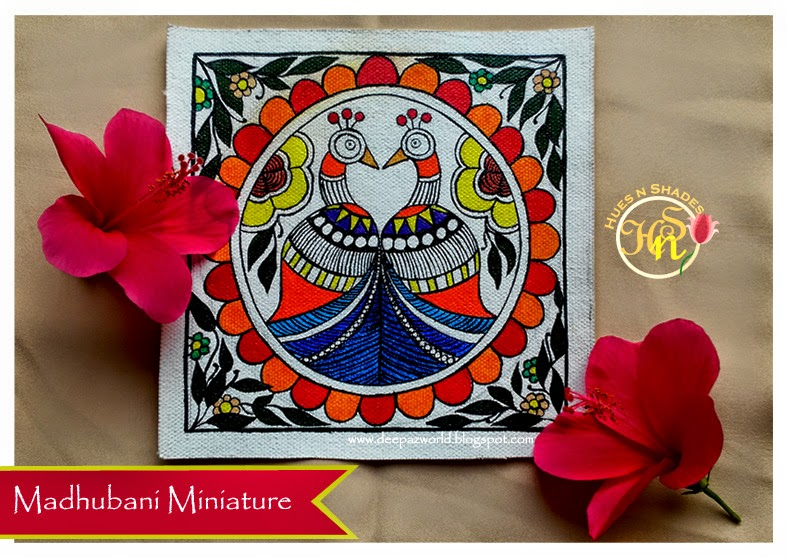 Madhubani-Miniature-Twin-Peacocks-HuesnShades