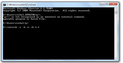 Recover+Hidden+Files+Command codeimagine How to Recover Hidden Files from Virus Infected USB Pendrive/Memory Card ?
