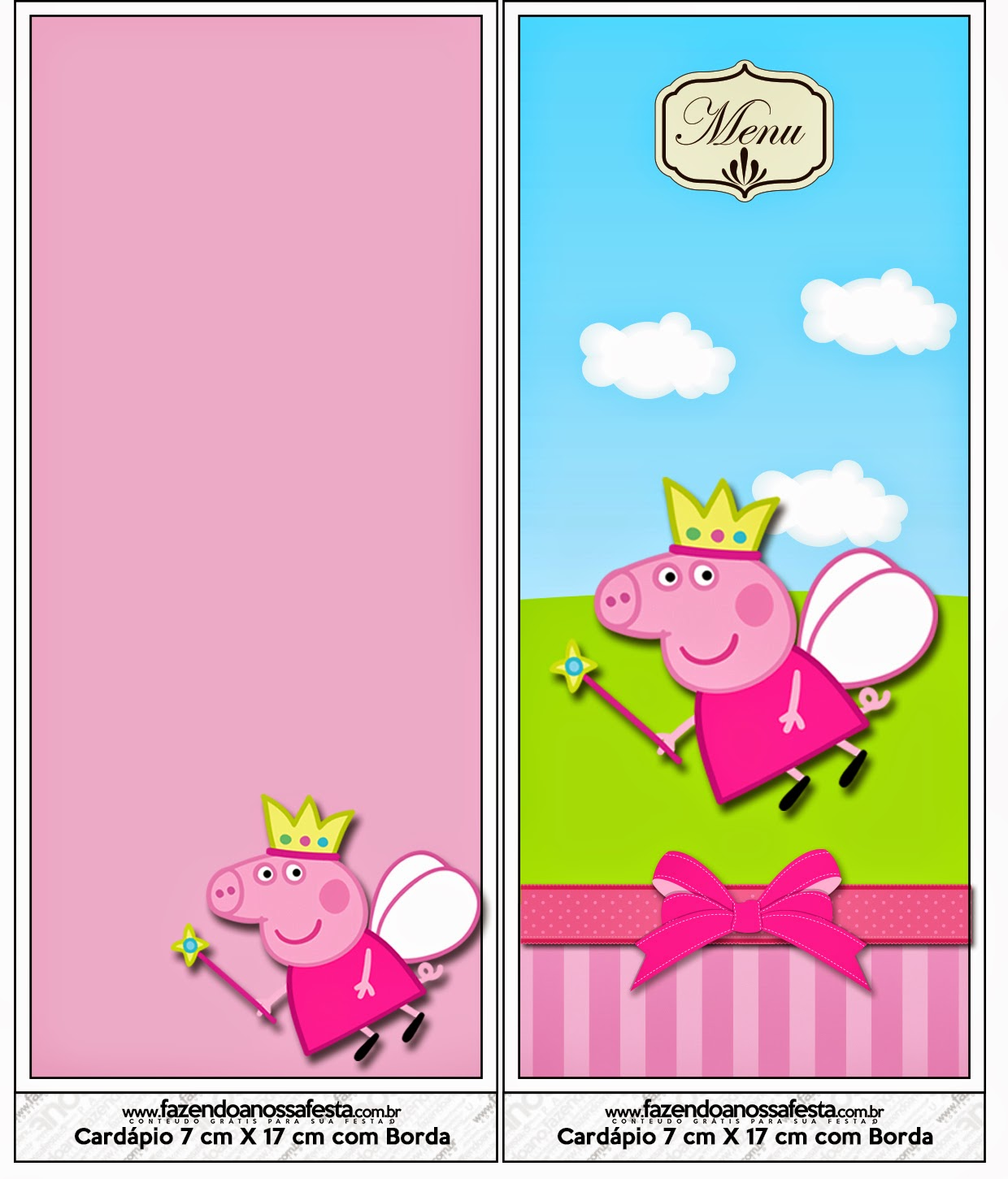Peppa Pig Fairy: Free Party Printables, Images and Backgrounds. | Oh ...