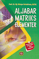 toko buku rahma: buku ALJABAR MATRIK ELEMENTER, pengarang rahayu kariadinata, penerbit pustaka setia