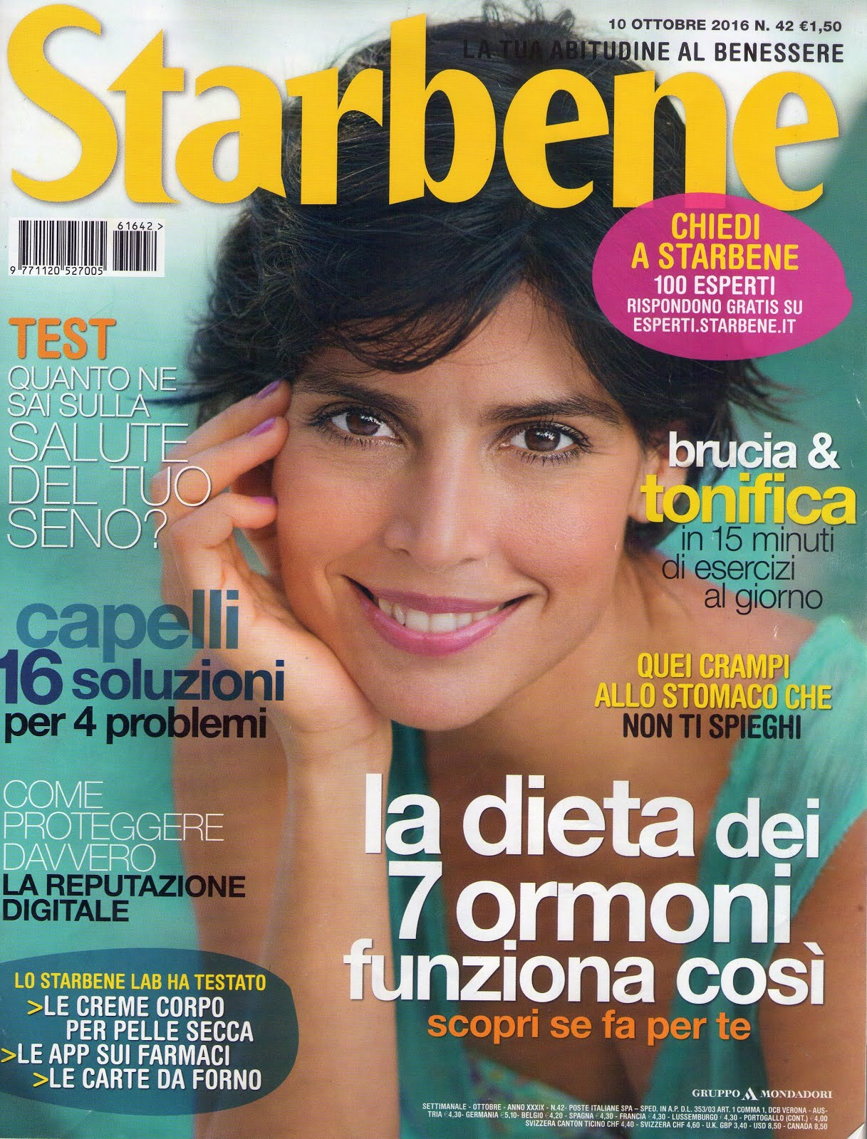 """Intervista settimanale """"Starbene"""" n° 42 del 10/10/2016"""