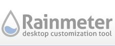 برنامج Rainmeter لمراقبة اداء المعالج، الذاكرة والهاردسك