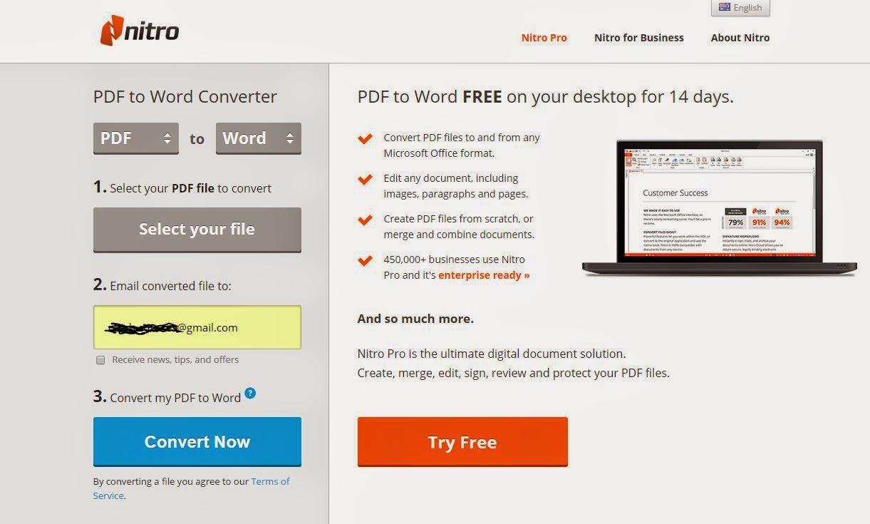 Nitro PDF To Word Converter