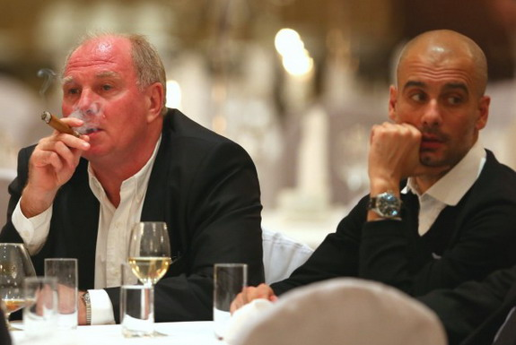 Uli Hoeneß managed to secure the services of Pep Guardiola while on a business trip to USA