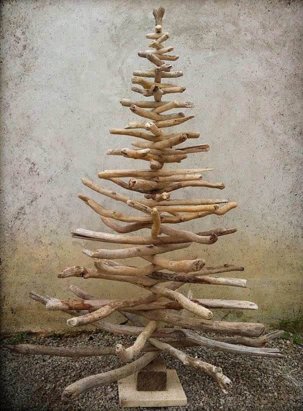15 Arboles De Navidad Reciclados Construccion Y Manualidades - Arbol-de-navidad-artesanal