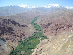 Afghan river valley