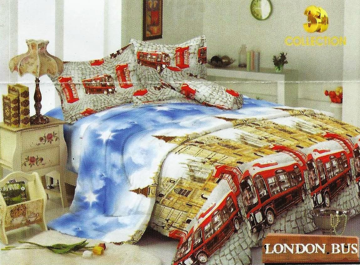 KINTAKUN Sprei dan Bedcover LONDON BUS